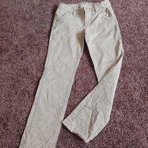 Cherokee khaki/cream straight leg uniform pants